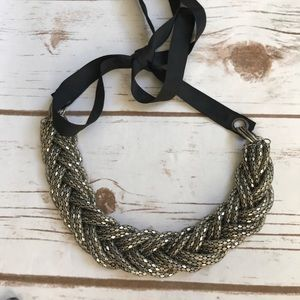 Metal braided necklace